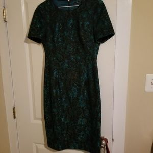 5ce2d53f Black Halo Dresses - Black Halo Bailey Teal Floral Sheath Dress Size 8